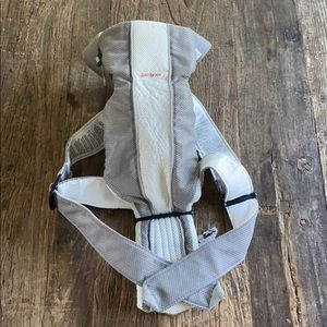Baby Bjorn Mesh Grey and White Baby Carrier